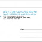 In phong bì số lượng ít công ty cổ phần giáo dục năng khiếu Việt