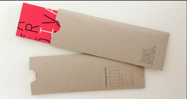 Mẫu phong bì thư cho công ty dạng đứng dùng giấy Kraft cứng