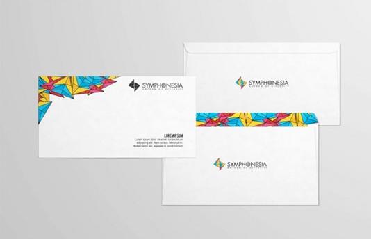 Mẫu in phong bì công ty thích hợp với các công ty du lịch với hình ảnh những cánh diều đầy màu sắc