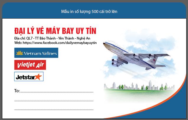 Mẫu in phong bì số lượng ít cho đại lý bán vé máy bay
