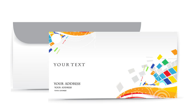 mẫu in phong bì công ty đẹp đa sắc màu dành cho những công ty chuyên về sáng tạo và truyền thông, hội họa...