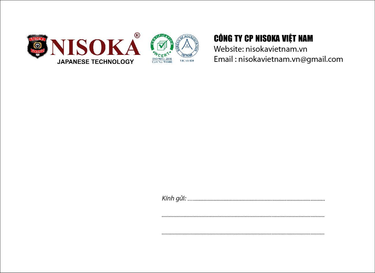 Mẫu in phong bì số lượng ít giá rẻ cho công ty NIKOSAN Việt Nam