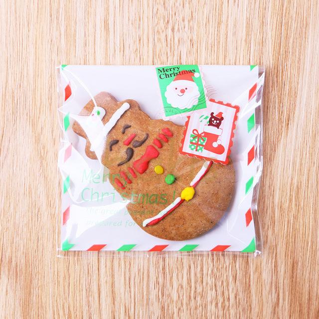 Mẫu bao bì đựng bánh giáng sinh thiết kế theo phong cách phong bì thư đẹp